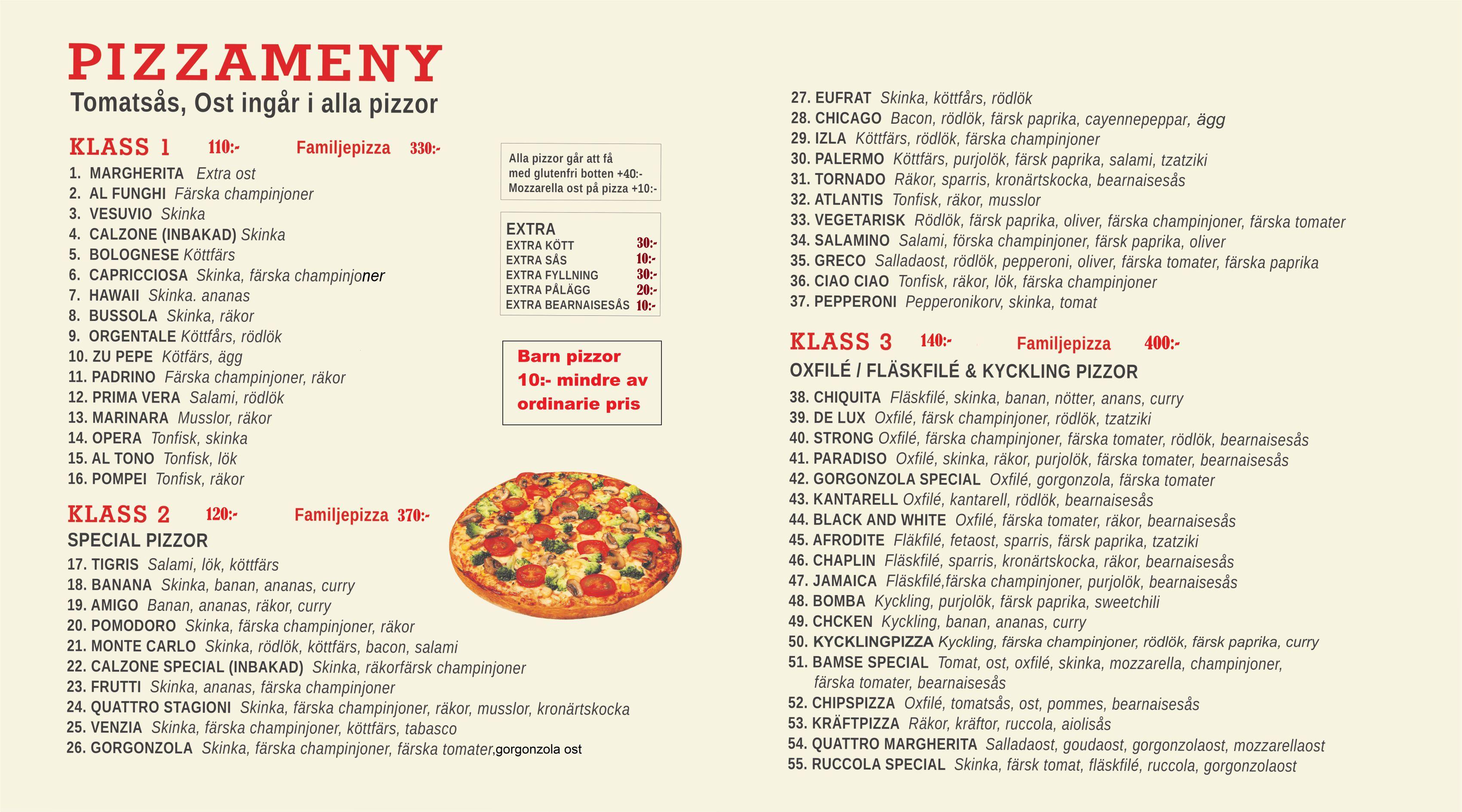 agens pizzeria degerfors meny